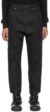 Diesel Black Gold Black Low Crotch Cropped Jeans