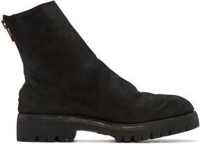Guidi Black Suede Boots