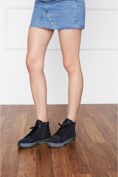 Anine Bing Nico Sneakers In Midnight Suede