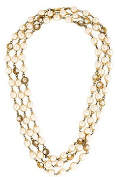 Chanel Pearl & Crystal Chain Necklace