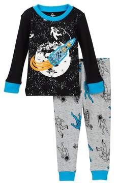 Petit Lem Astronaut in Space Long Sleeve Pajama Set (Baby Boys)