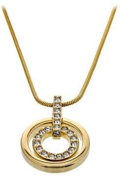 Swarovski Gold-plated Circle Pendant 1081977