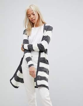 Blend She San Long Striped Knit Cardigan