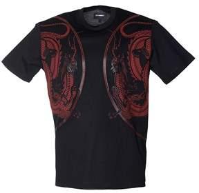 Les Hommes Men's Black Cotton T-shirt.