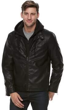 Marc Anthony Men's Slim-Fit Fleece Bibbed Hooded Jacket