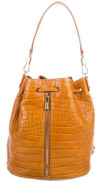 Elizabeth and James Cynnie Embossed Leather Backpack