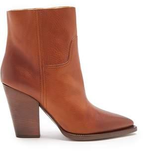Saint Laurent Theo raw-edge cowboy ankle boot