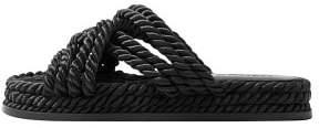 MANGO Interwoven cord sandals