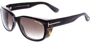 Tom Ford Gradient Carson FT0441-52K-56 Brown Rectangle Sunglasses
