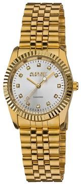 August Steiner Gold-tone Diamond Ladies Watch