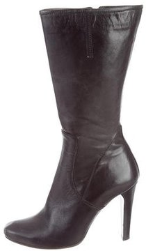 CNC Costume National Leather Mid-Calf Boots