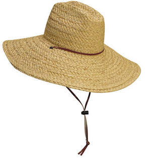 Scala Women's L318OS Lifeguard Straw Hat with Chin Cord