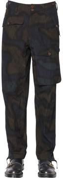 Kolor 19.5 Cm Printed Cotton Poplin Pants
