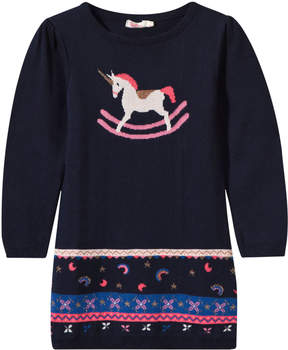 Billieblush Navy Knit Unicorn Dress
