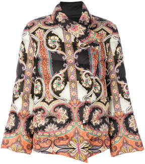 Etro multi-printed puffer jacket