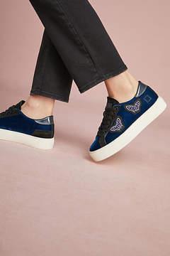 D.A.T.E Velvet Butterfly Sneakers