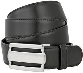 Montblanc Contemporary Line Rectangular Buckle Black/Brown Reversible Leather Belt