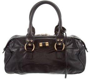 Saint Laurent Leather Muse Bowler Bag - BLACK - STYLE