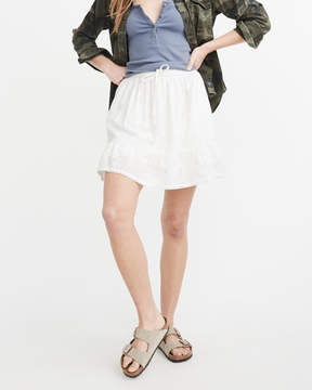 Abercrombie & Fitch Embroidered Mini Skirt