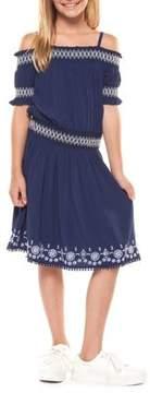 Dex Girl's Embroidered Smocked Dress