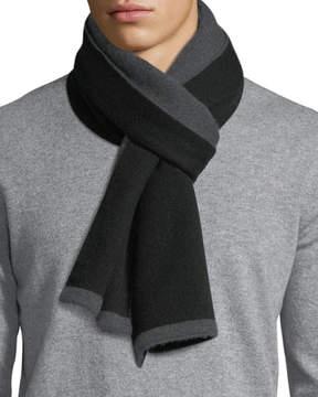 Neiman Marcus Double-Face Cashmere Knit Scarf