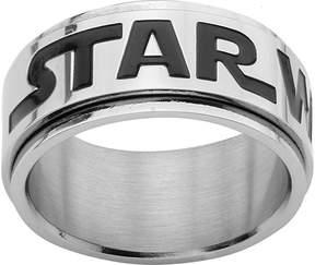Star Wars FINE JEWELRY Logo Mens Stainless Steel Spinner Ring