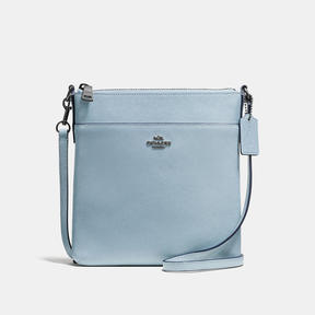 COACH Coach Messenger Crossbody - DARK GUNMETAL/PALE BLUE - STYLE