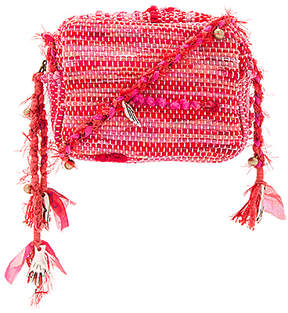 Ancient Greek Sandals Lachesis Crossbody in Fuchsia.