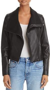 Aqua Yigal x Convertible Leather Moto Jacket - 100% Exclusive
