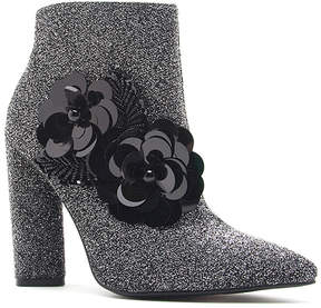 Qupid Pewter Flower Miss Bootie - Women