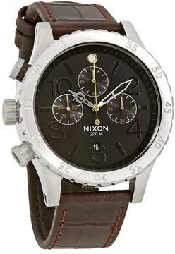 Nixon 48-20 Chrono Leather Chronograph Brown Dial Men's Watch