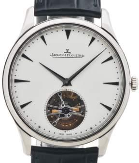 Jaeger-LeCoultre Jaeger Lecoultre Master Ultra Thin Tourbillon Silver Dial 8K White Gold Men's Watch