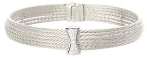 Alor 18K White Gold Diamond Detail Multi Strand Bracelet - 0.12 ctw