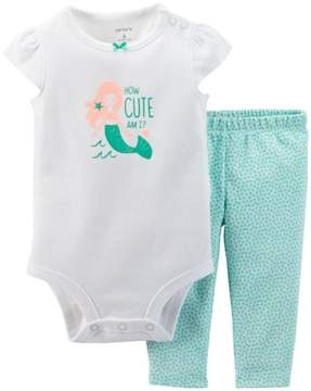 Carter's Baby Girls' 2 Piece Bodysuit Set (Baby) - Turquoise