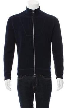 Dries Van Noten Woven Zip-Up Sweater
