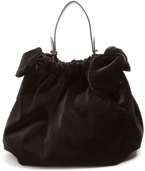 SIMONE ROCHA Double-knot velvet shoulder bag