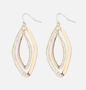 Avenue Double Diamond Drop Earrings