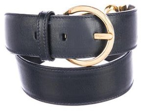 Salvatore Ferragamo Leather Logo Belt