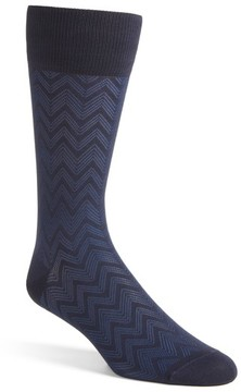 John W. Nordstrom Men's Over The Calf Chevron Socks