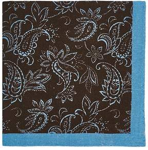 Barneys New York Men's Paisley Wool-Cashmere Pocket Square