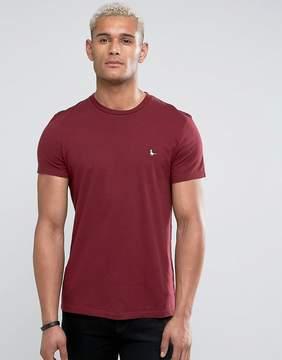 Jack Wills Sandleford Basic T-Shirt In Damson