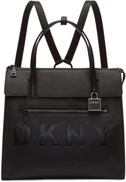 DKNY Commuter Leather Convertible Backpack