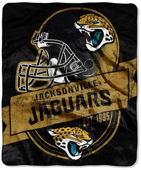 Northwest Company Jacksonville Jaguars Grand Stand Plush Throw Blanket