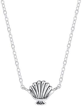 Disney Sterling Silver Little Mermaid Sea Shell Necklace with 18-inch Chain