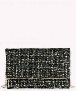 Sole Society Leora Tweed Foldover Clutch
