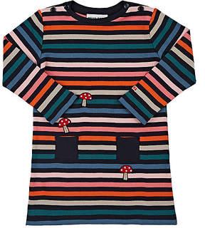 Sonia Rykiel Mushroom-Appliquéd Striped Cotton Dress
