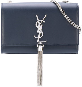 Saint Laurent medium Kate tassel satchel - BLUE - STYLE