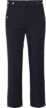 Vanessa Bruno Herve Stretch-wool Twill Flared Pants - Navy