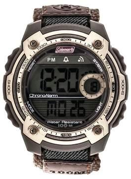Coleman Men's 10 Digit LCD Alarm Chronograph Multi - Function Watch - Brown