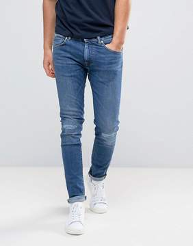Edwin ED-85 Slim Tapered Drop Crotch Jeans Baroque Wash Knee Rips